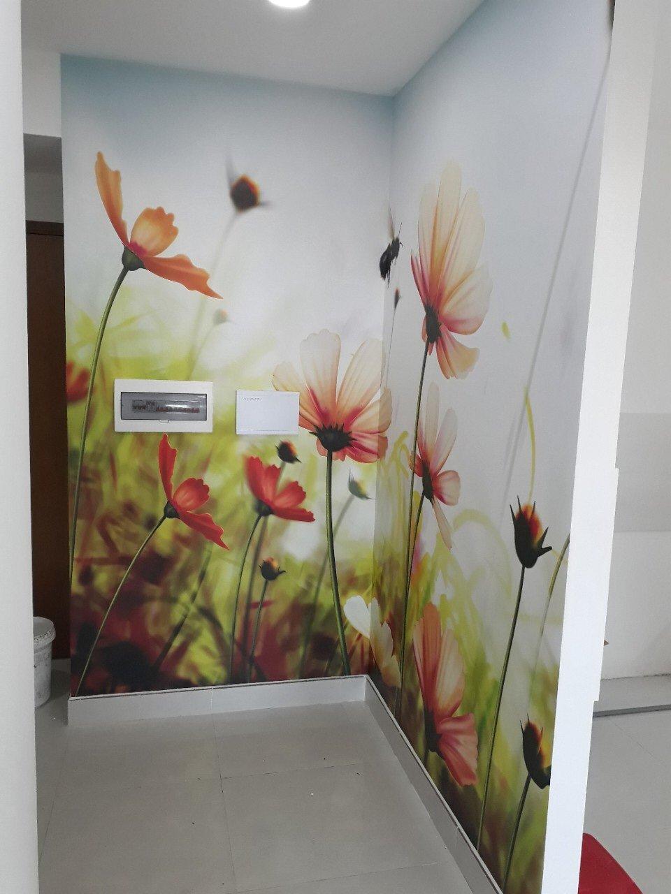 TRANH ONGVABONG tranh dán tường 3d hoa xuân cùng ong vàng