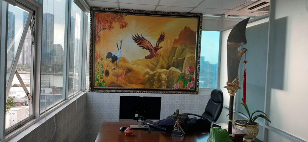 Phong Thuy Giấy Dán Tường Phong Thủy Trang Trí Phòng Sếp Lớn