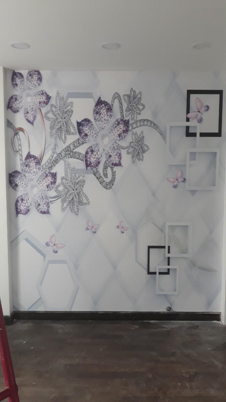 tranh hoa nhu kim cuong tranh vải 3d hình hoa nhủ kim cương
