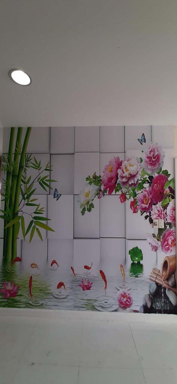 tranh phong thuy Tranh Dán Tường 3D Phong Thủy