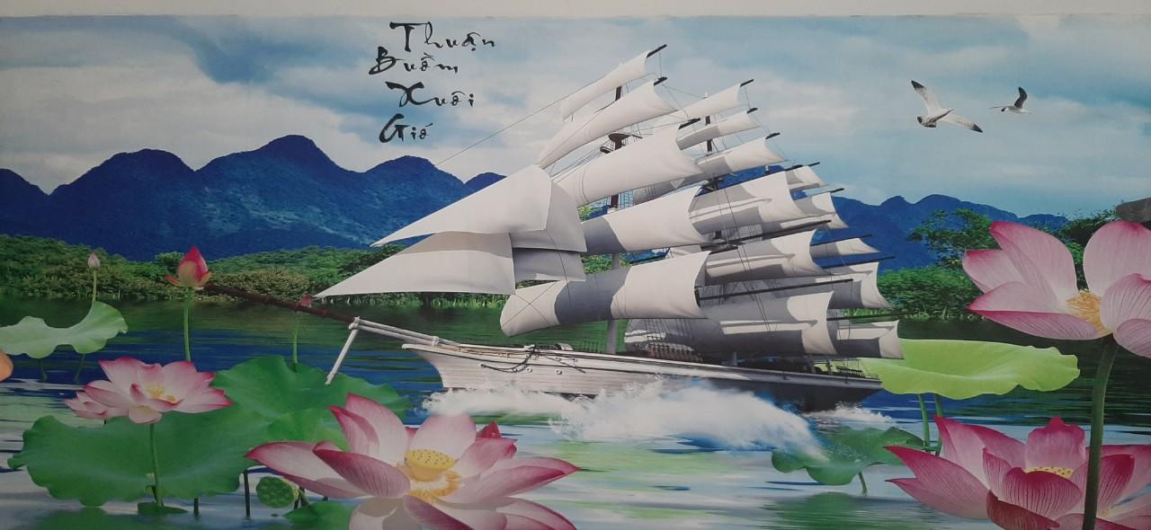 9bc4fb0055e5b2bbebf4 Tranh Dán Tường 3D Thuận Buồm Xuôi Gió