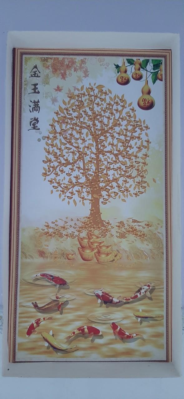 efe68688df4938176158 Tranh Dán Tường 3D Hồ Lô Kim Ngọc Mãn Đường