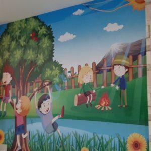 tranh dán tường hoạt hình