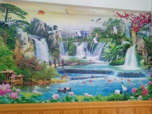218d293ce1011c5f4510 Tranh Vải Dán Tường 3D Phong Thủy